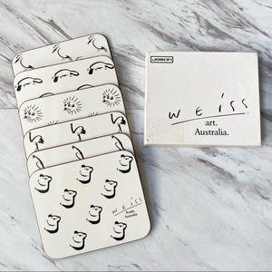 Weiss Art Australian Animal Coasters Set of 6